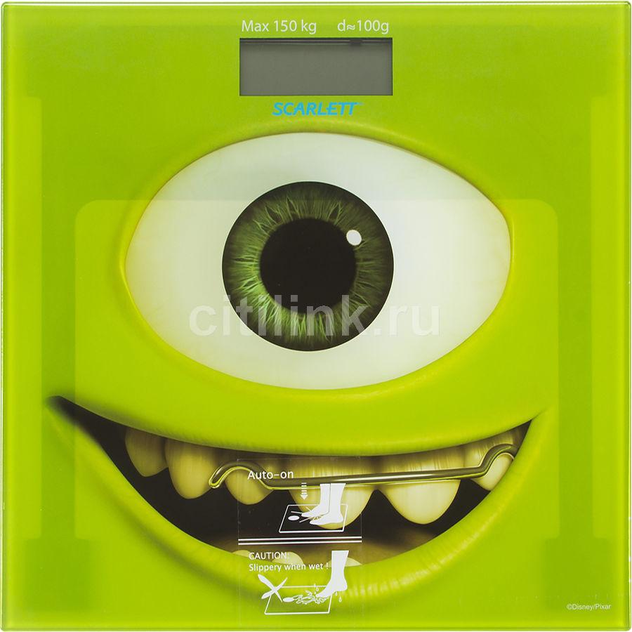 Напольные весы SCARLETT SC-BSD33E897, до 150кг, цвет: зеленый/рисунок [sc - bsd33e897]