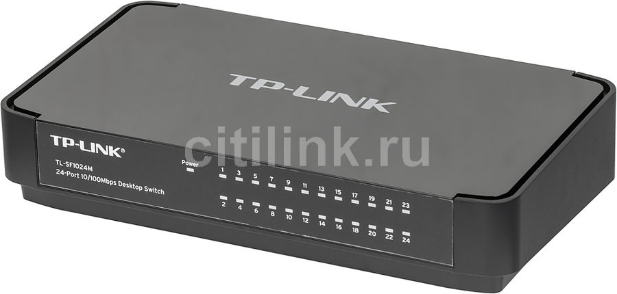 Коммутатор TP-LINK Desktop Switch TL-SF1024M коммутатор tp link tl sf1005d 5 port 10 100m mini desktop switch 5 10 100m rj45 ports plastic case