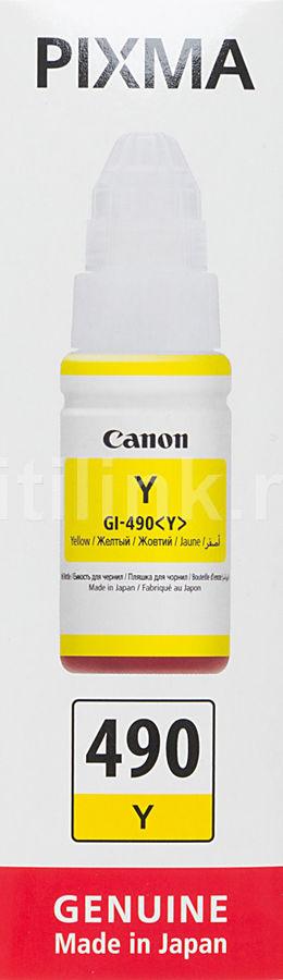 Картридж CANON GI-490Y желтый [0666c001]