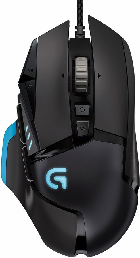 Мышь LOGITECH G502 RGB оптическая проводная USB, черный [910-004617]