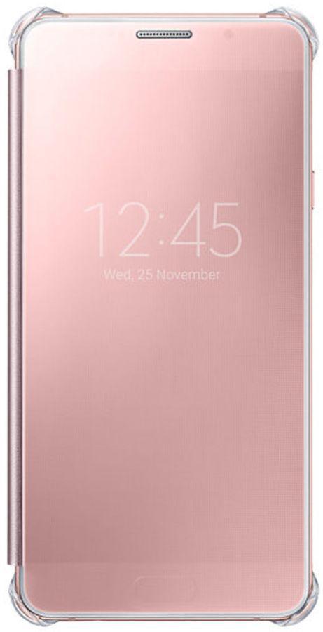 Чехол (клип-кейс) SAMSUNG Clear View Cover, для Samsung Galaxy A5 (2016), розовое золото [ef-za510czegru]