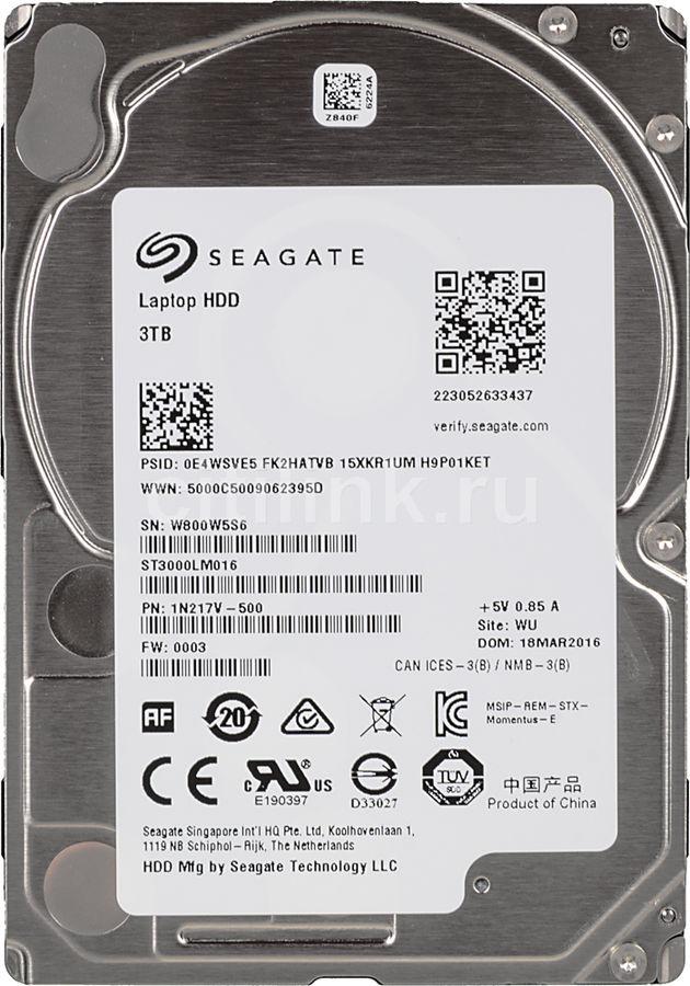 Жесткий диск SEAGATE Momentus ST3000LM016,  3Тб,  HDD,  SATA III,  2.5