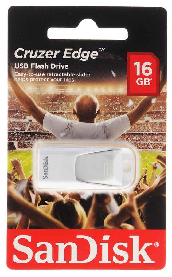 Флешка USB SANDISK Cruzer Edge EURO 2016 Football 16Гб, USB2.0, белый [sdcz51-016g-e35wg]