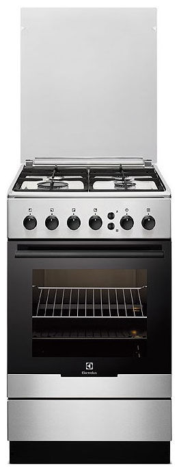 Газовая плита ELECTROLUX EKG951108X,  газовая духовка,  нержавеющая сталь