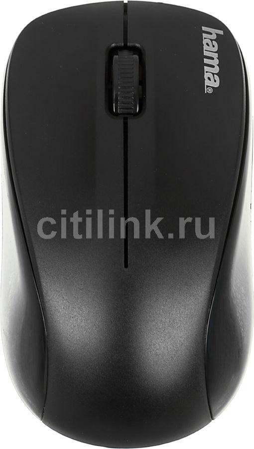 Мышь HAMA AM-8100 оптическая беспроводная USB, черный [00134934]
