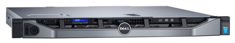 Сервер Dell PowerEdge R230 1xE3-1220v5 1x8Gb 1RUD x4 1x1Tb 7.2K 3.5
