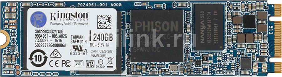 SSD накопитель KINGSTON SSDNow SM2280S3G2/240G 240Гб, M.2 2280, SATA III ssd накопитель intel 540s series ssdsckkw240h6x1 240гб m 2 2280 sata iii