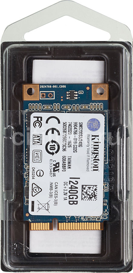 все цены на SSD накопитель KINGSTON SSDNow mS200 SMS200S3/240G 240Гб, mSATA, SATA III онлайн