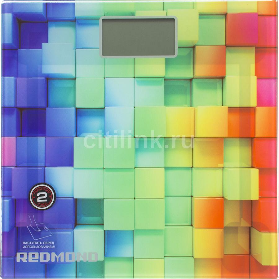 Напольные весы REDMOND RS-708, до 180кг, цвет: белый/кубики [rs-708 (кубики)]