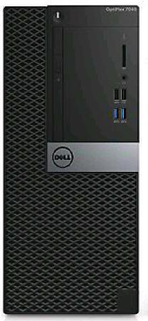 Компьютер  DELL Optiplex 7040,  Intel  Core i5  6500,  DDR4 8Гб, 500Гб,  AMD Radeon R5 340X - 2048 Мб,  DVD-RW,  Windows 7 Professional,  черный и серебристый [7040-8521]