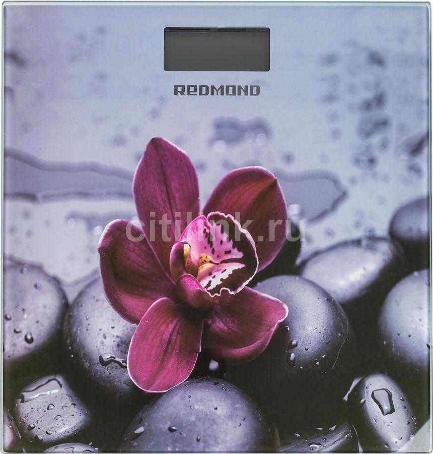 Весы REDMOND RS-733, до 180кг, цвет: серый/орхидея [rs-733 (орхидея)]