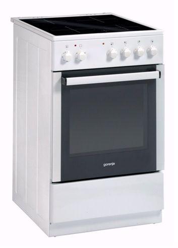 Электрическая плита GORENJE EC51103AW,  стеклокерамика,  белый
