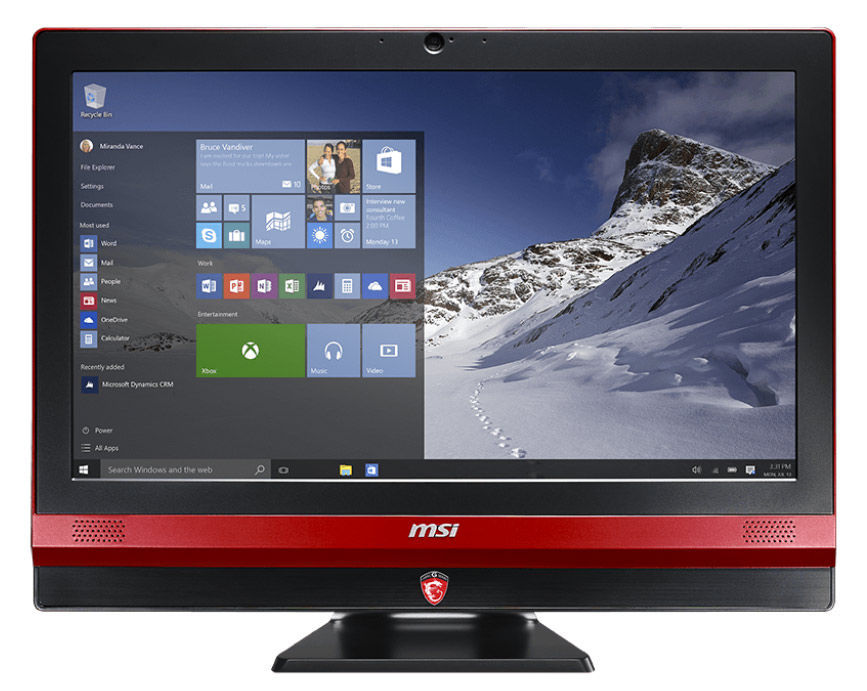 Моноблок MSI Gaming 24GE 2QE-036RU, Intel Core i7 4720HQ, 8Гб, 1000Гб, 256Гб SSD,  nVIDIA GeForce GTX 960M - 2048 Мб, DVD-RW, Windows 10, черный и красный [9s6-ae6b11-036]