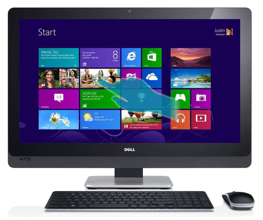 Моноблок DELL XPS One 2720, Intel Core i5 4460S, 8Гб, 1000Гб, 64Гб SSD,   GeForce GT750M - 2048 Мб, DVD-RW, Windows 10 Home, серебристый и черный [2720-9112]