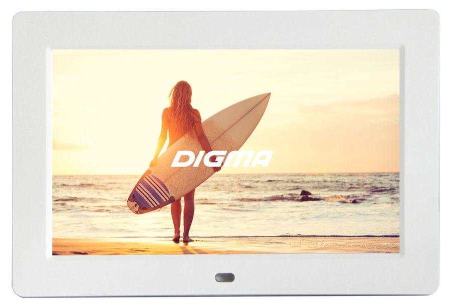 """Цифровая фоторамка DIGMA PF-1033,  10.1"""", белый [pf1033w]"""