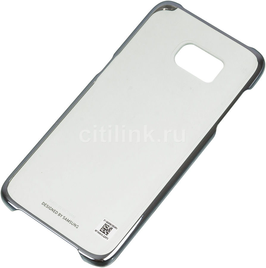 Чехол (клип-кейс) SAMSUNG Clear Cover, для Samsung Galaxy S7 edge, черный [ef-qg935cbegru]