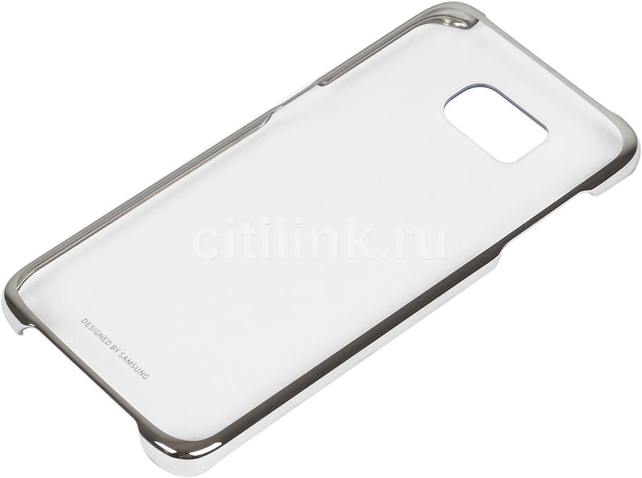 Чехол (клип-кейс) SAMSUNG Clear Cover, для Samsung Galaxy S7 edge, серебристый [ef-qg935csegru]