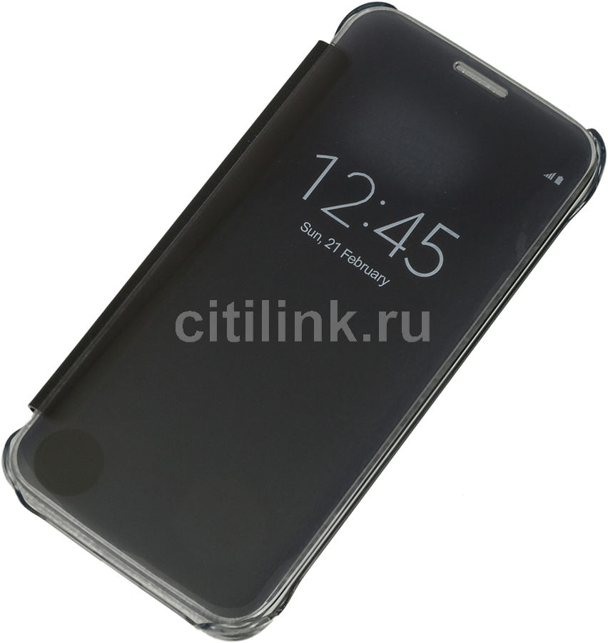 Чехол (флип-кейс) SAMSUNG Clear View Cover, для Samsung Galaxy S7, черный [ef-zg930cbegru]