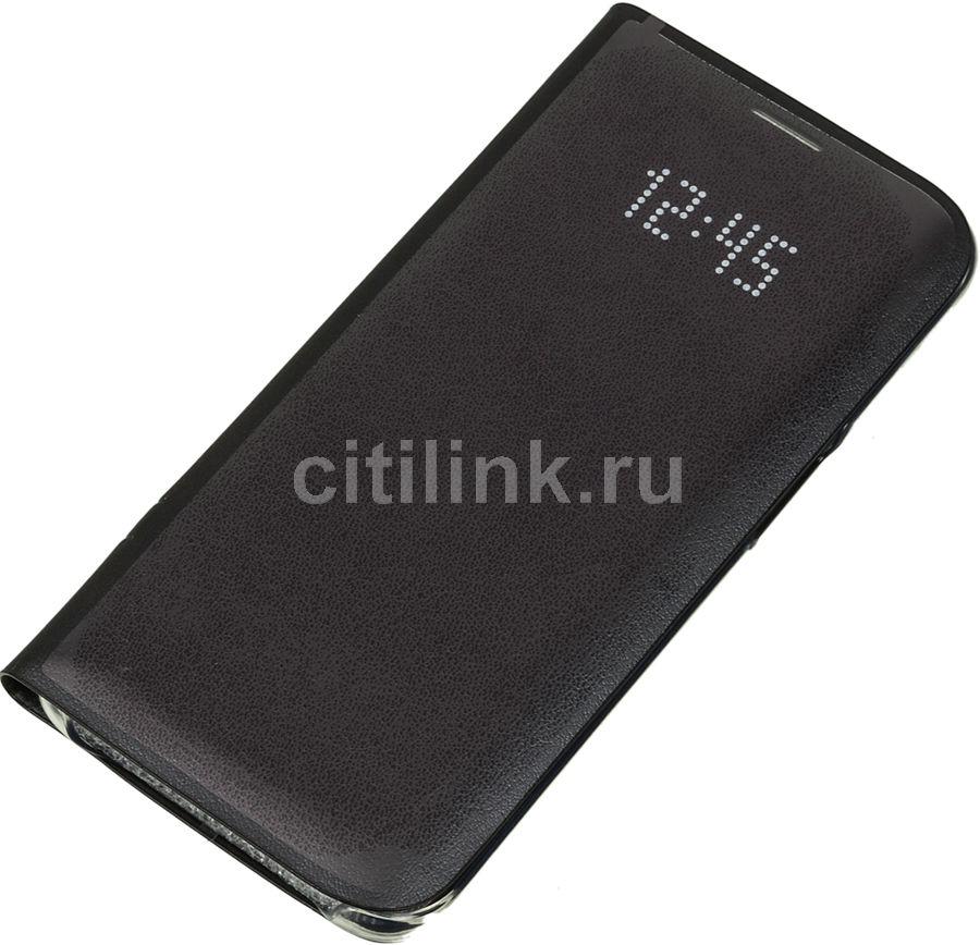 Чехол (флип-кейс) SAMSUNG LED View Cover, для Samsung Galaxy S7 edge, черный [ef-ng935pbegru]