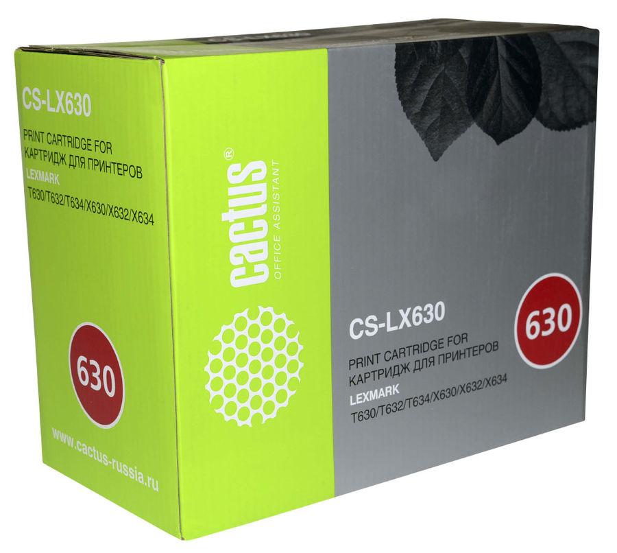 Картридж CACTUS CS-LX630 черный