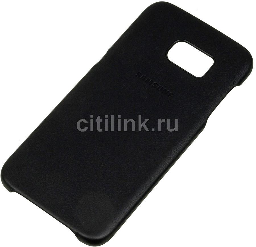 Чехол (клип-кейс) SAMSUNG Leather Cover, для Samsung Galaxy S7 edge, черный [ef-vg935lbegru]