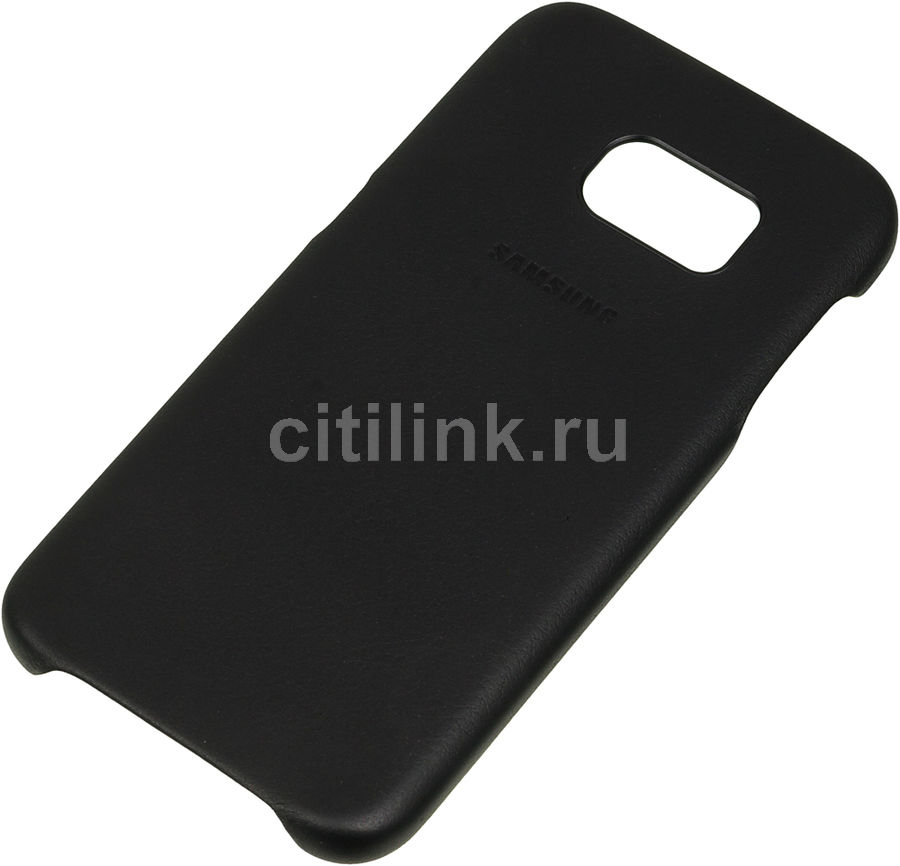 Чехол (клип-кейс) SAMSUNG Leather Cover, для Samsung Galaxy S7, черный [ef-vg930lbegru]