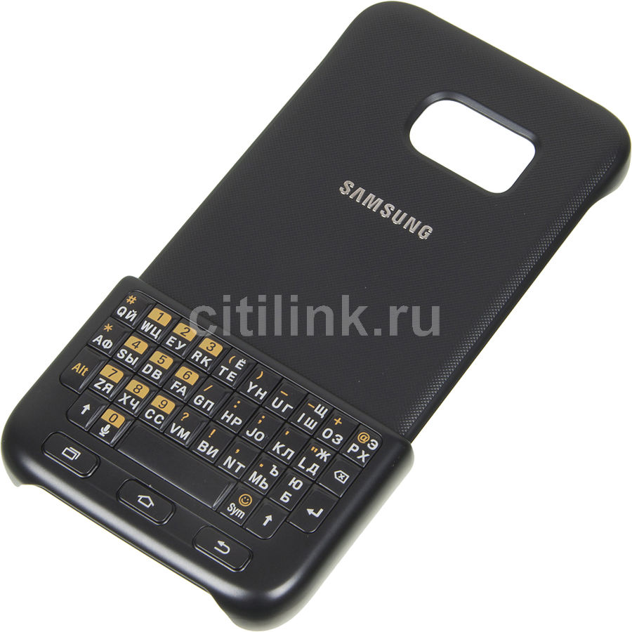 Чехол-клавиатура SAMSUNG Keyboard Cover, для Samsung Galaxy S7, черный [ej-cg930ubegru]