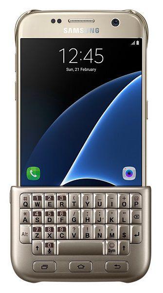 Чехол-клавиатура SAMSUNG Keyboard Cover, для Samsung Galaxy S7, золотистый [ej-cg930ufegru]