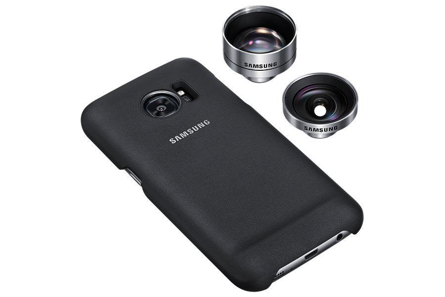 Чехол (клип-кейс) SAMSUNG Lens Cover, для Samsung Galaxy S7, черный [et-cg930dbegru]