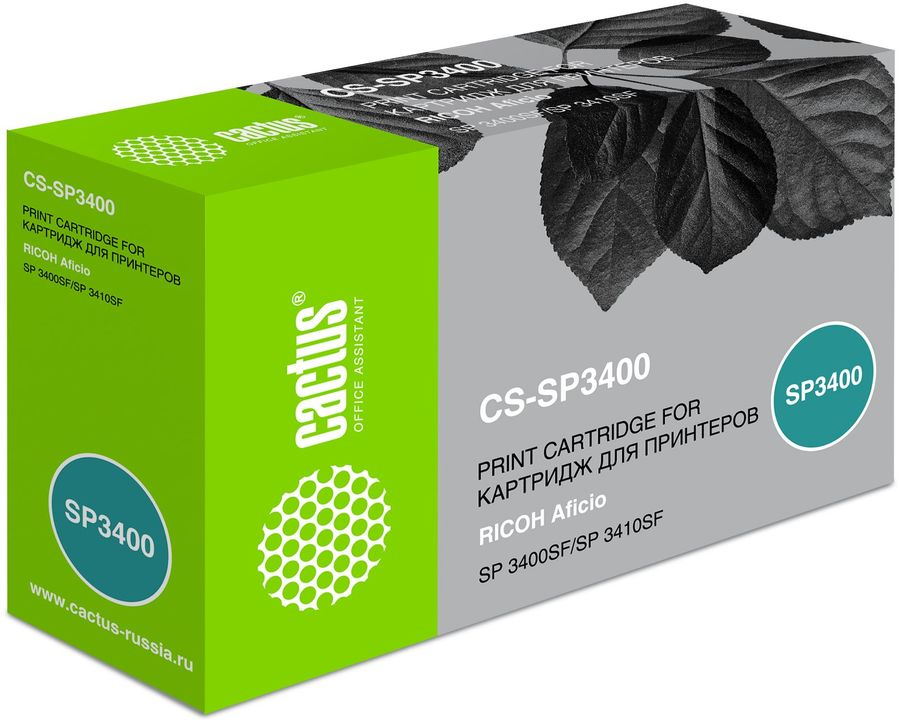 Картридж CACTUS CS-SP3400 черный sp3400 toner laser cartridge for ricoh aficio sp3400 sp3410 sp3500 sp 3400 3410 3500 406522 bk 5 000 pages free shipping