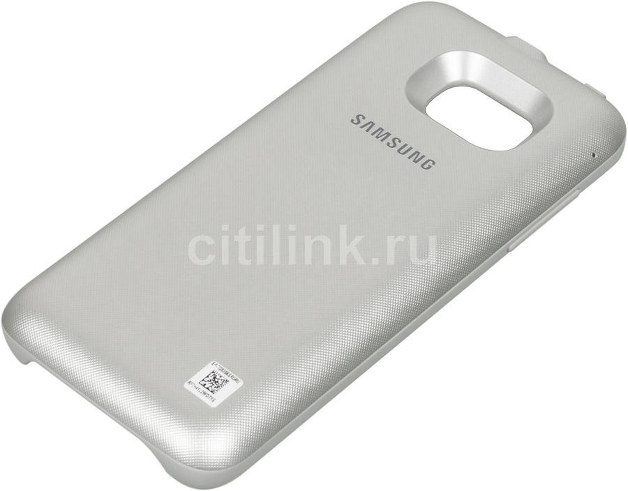 Чехол с функцией беспроводной зарядки SAMSUNG Backpack, 3400 мАч, для Samsung Galaxy S7 edge, серебристый [ep-tg935bsrgru]