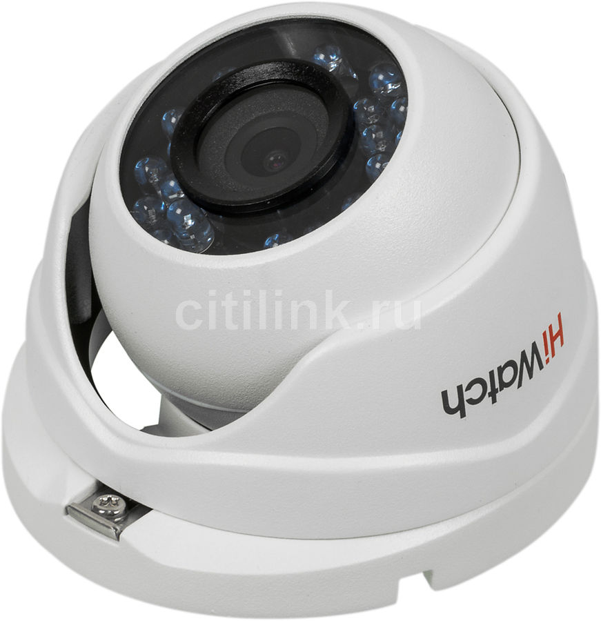 Камера видеонаблюдения HIKVISION HiWatch DS-T103, 3.6 мм, белый hikvision hiwatch ds т200 3 6