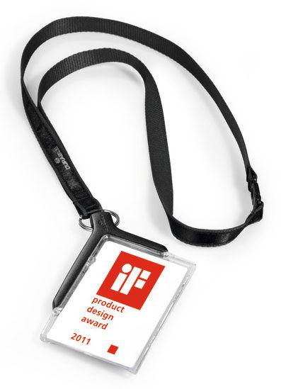Держатель для пропуска Durable 8207-58 CARD HOLDER DELUXE 54х85мм серый (упак.:10шт)