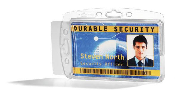 Держатель для 2 пропусков Durable 8924-19 54х85мм прозрачный (упак.:10шт)