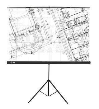 Экран CACTUS Wallscreen CS-PSW-213×213 белый