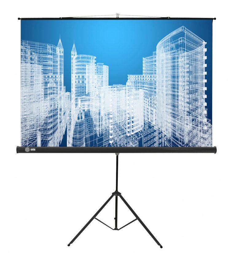 Экран CACTUS Triscreen CS-PST-104x186,  186х104.4 см, 16:9,  напольный белый
