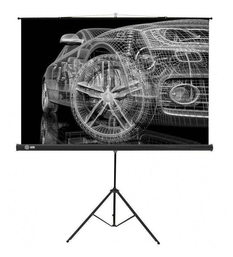 Экран CACTUS Triscreen CS-PST-124x221,  221х124.5 см, 16:9,  напольный белый