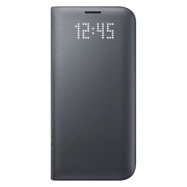 Чехол (флип-кейс) SAMSUNG LED View Cover, для Samsung Galaxy S7 edge, черный [ef-ng935pbegru-d]