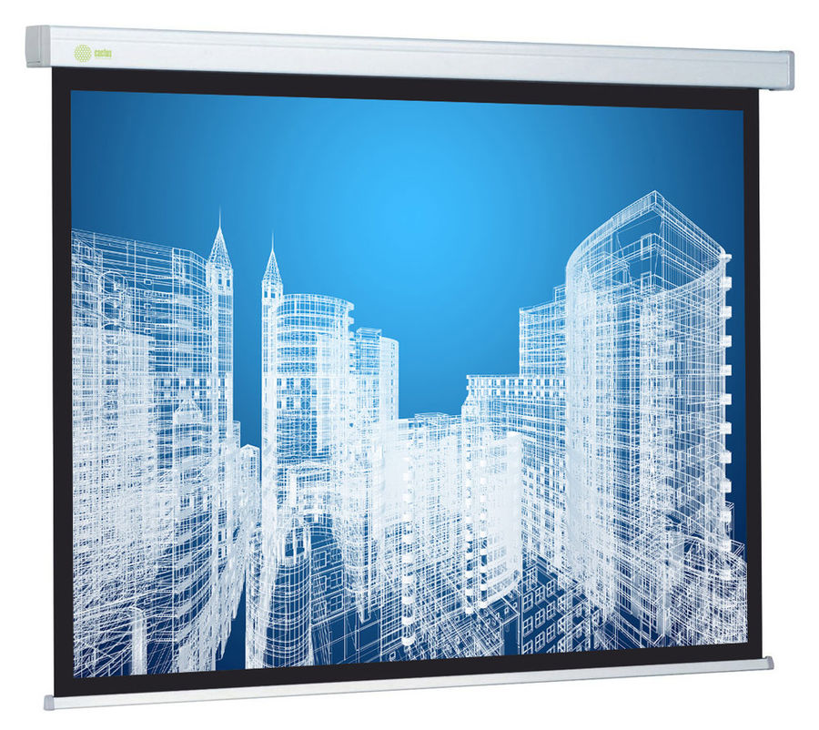 Экран CACTUS Wallscreen CS-PSW-187x332,  332х187 см, 16:9,  настенно-потолочный белый