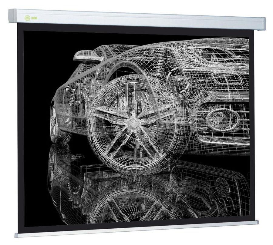 Экран CACTUS Wallscreen CS-PSW-206x274,  274х206 см, 4:3,  настенно-потолочный белый