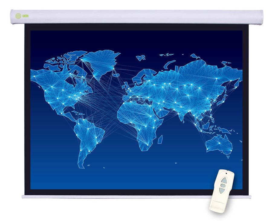 Экран CACTUS Motoscreen CS-PSM-127X127,  127х127 см, 1:1,  настенно-потолочный белый