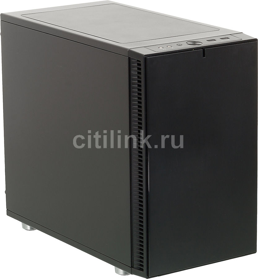 Корпус ITX FRACTAL DESIGN Define Nano S, Midi-Tower, без БП,  черный
