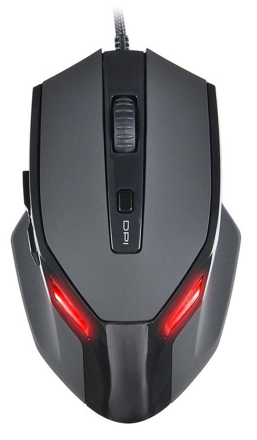 Мышь OKLICK 835G PREDATOR, игровая, оптическая, проводная, USB, черный [sm-k9500]