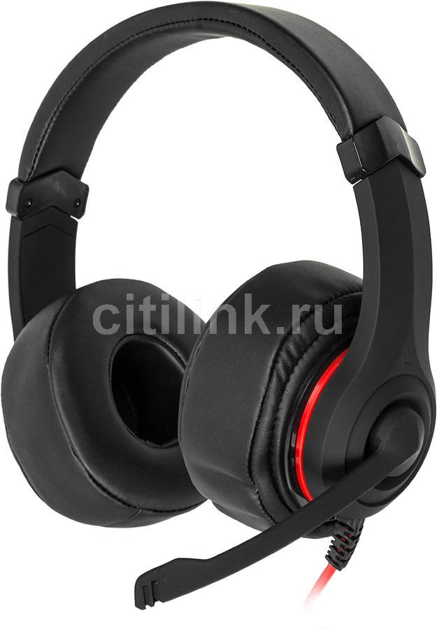 Наушники с микрофоном OKLICK HS-L330G NIGHTMARE,  мониторы, черный  [n-6]