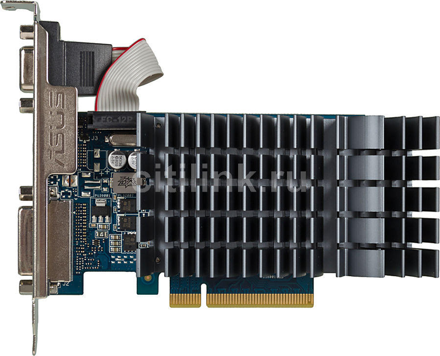 Видеокарта ASUS GeForce GT 710, 710-1-SL-BRK, 1Гб, DDR3, Low Profile, Ret
