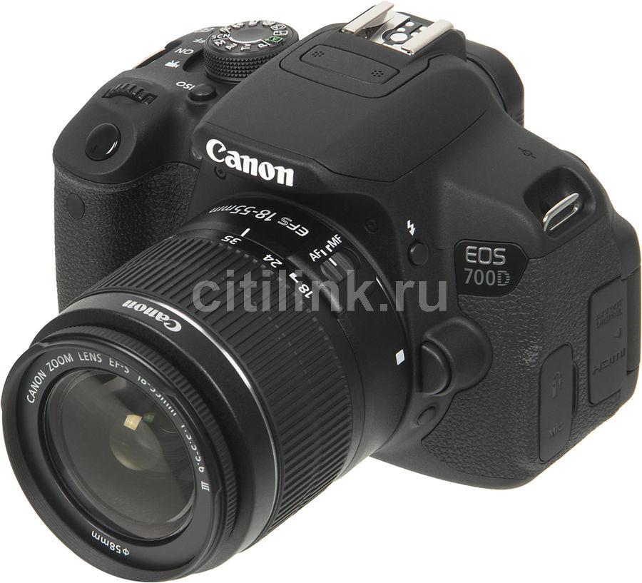 Зеркальный фотоаппарат CANON EOS 700D kit ( EF-S 18-55mm f/3.5-5.6 DC III),  черный