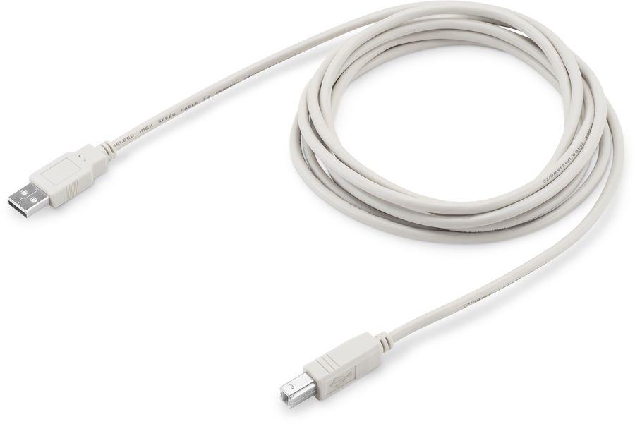 Кабель USB2.0 BURO USB A (m) -  USB B (m),  3м,  серый [usb2.0-am/bm-3]