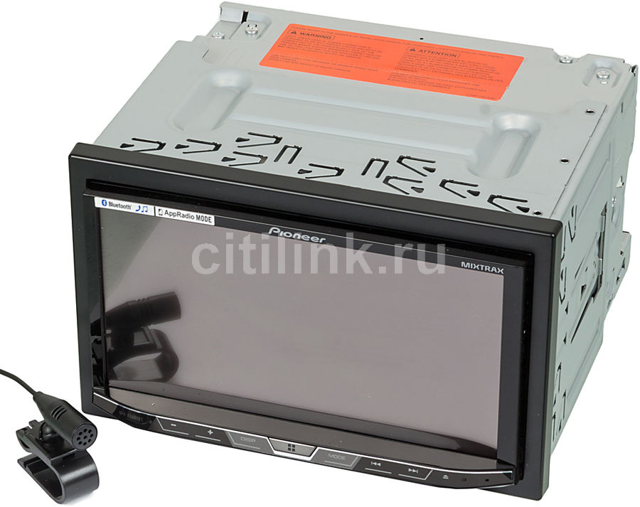 Автомагнитола PIONEER AVH-X5800BT, USB автомагнитола pioneer avh x5800bt 7 800x480 usb mp3 cd dvd fm rds 2din 4x50вт черный