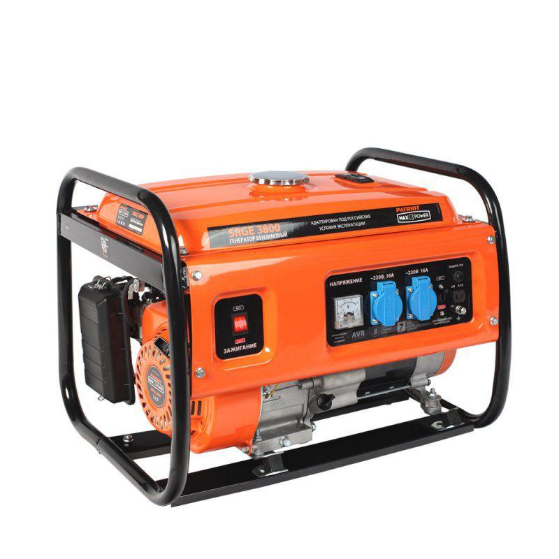 Бензиновый генератор PATRIOT SRGE 3800,  220 В,  3кВт [474103155]