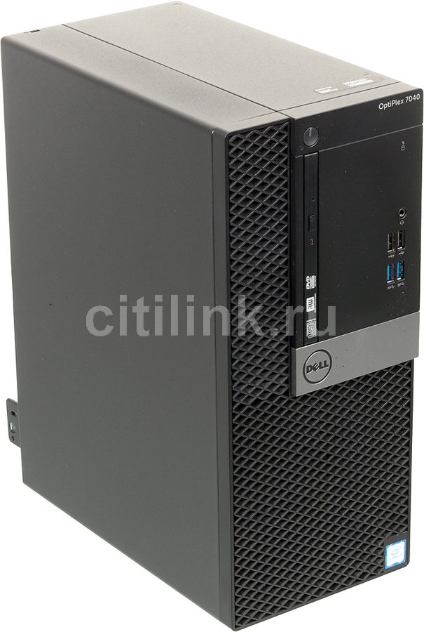 Компьютер  DELL Optiplex 5040,  Intel  Core i7  6700,  DDR3L 8Гб, 500Гб,  AMD Radeon R5 340X - 2048 Мб,  DVD-RW,  Windows 7 Professional,  черный и серебристый [5040-2617]